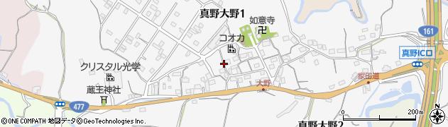 滋賀県大津市真野大野周辺の地図