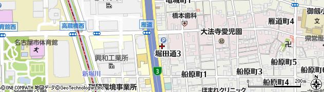 愛知県名古屋市瑞穂区堀田通周辺の地図
