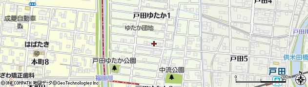 愛知県名古屋市中川区戸田ゆたか周辺の地図