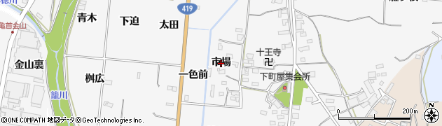 愛知県豊田市亀首町(市場)周辺の地図