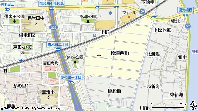 〒454-0951 愛知県名古屋市中川区榎津西町の地図