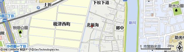愛知県名古屋市中川区富田町大字榎津(北新海)周辺の地図
