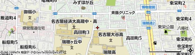 愛知県名古屋市瑞穂区高田町周辺の地図