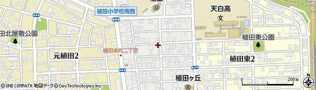 愛知県名古屋市天白区植田本町周辺の地図