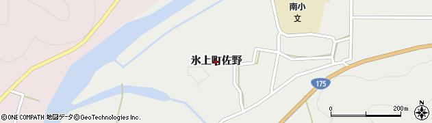兵庫県丹波市氷上町佐野周辺の地図