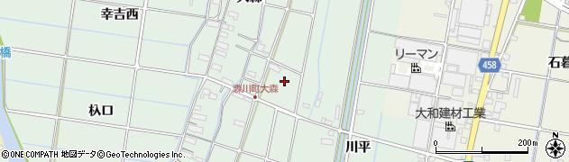 愛知県愛西市森川町(百石山)周辺の地図