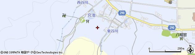 兵庫県丹波市柏原町鴨野周辺の地図