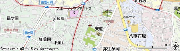 愛知県名古屋市天白区八事天道周辺の地図