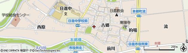 愛知県日進市本郷町周辺の地図