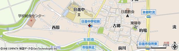 愛知県日進市本郷町(西原南通)周辺の地図