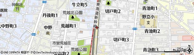 愛知県名古屋市熱田区野立町(平治ヶ池)周辺の地図