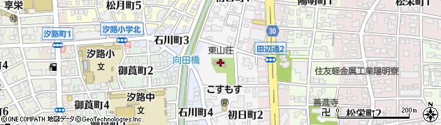 東山荘周辺の地図