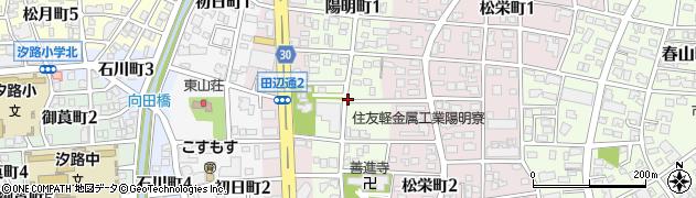 愛知県名古屋市瑞穂区陽明町周辺の地図