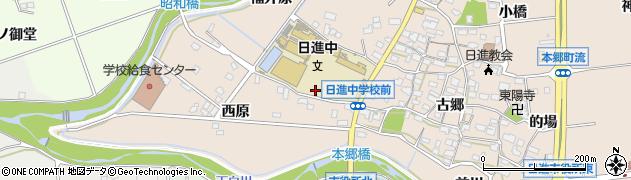 愛知県日進市本郷町(西原中通)周辺の地図