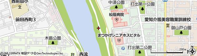 愛知県名古屋市中川区中須町(東流)周辺の地図
