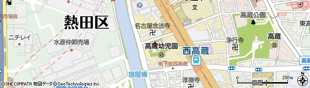 愛知県名古屋市熱田区尾頭町周辺の地図