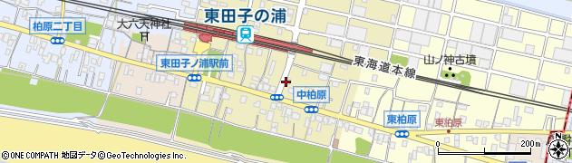 静岡県富士市中柏原新田周辺の地図