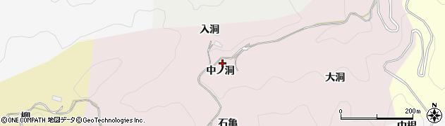 愛知県豊田市大蔵連町(中ノ洞)周辺の地図