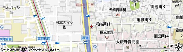 ガジール周辺の地図