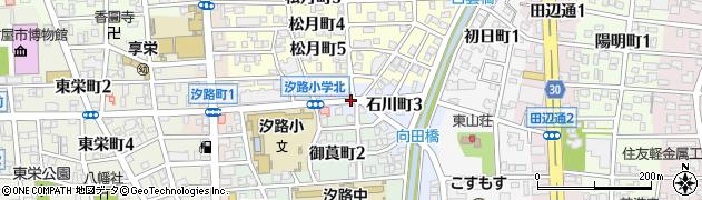 愛知県名古屋市瑞穂区石川町周辺の地図