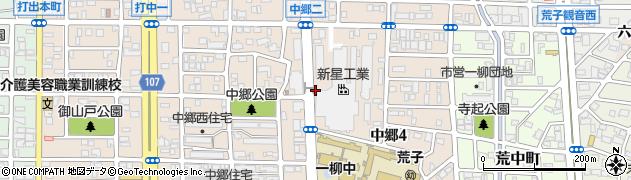 愛知県名古屋市中川区中郷周辺の地図