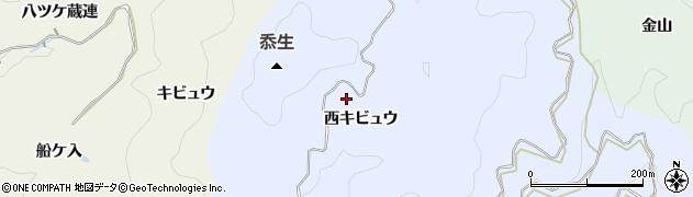 愛知県豊田市近岡町(西キビュウ)周辺の地図