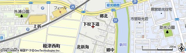 愛知県名古屋市中川区富田町大字榎津(下松下道)周辺の地図