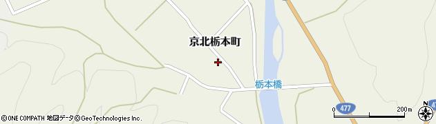京都府京都市右京区京北栃本町(南川原)周辺の地図