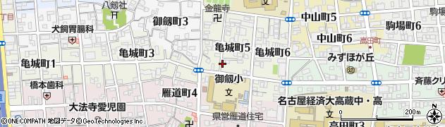 愛知県名古屋市瑞穂区亀城町周辺の地図