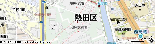 愛知県名古屋市熱田区川並町周辺の地図