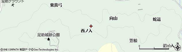 愛知県豊田市足助町(西ノ入)周辺の地図