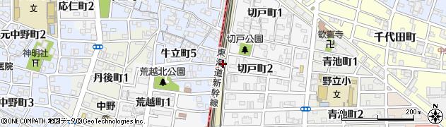 愛知県名古屋市熱田区野立町(上田)周辺の地図