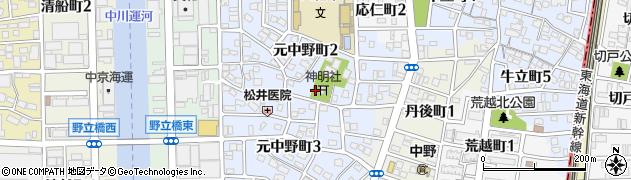 愛知県名古屋市中川区野立町周辺の地図
