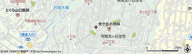 静岡県三島市光ケ丘周辺の地図