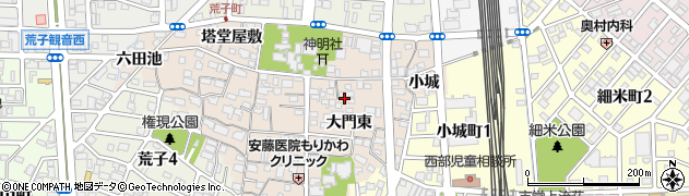 愛知県名古屋市中川区荒子町(大門東)周辺の地図