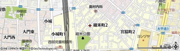 愛知県名古屋市中川区細米町周辺の地図