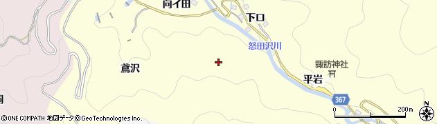 愛知県豊田市怒田沢町(向イ田)周辺の地図