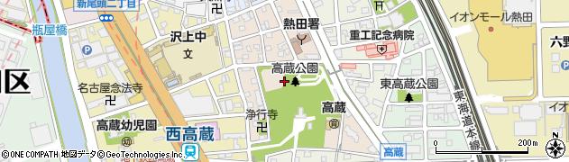 愛知県名古屋市熱田区高蔵町周辺の地図