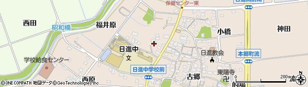愛知県日進市本郷町(西原北通)周辺の地図