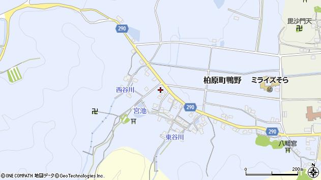 〒669-3316 兵庫県丹波市柏原町鴨野の地図