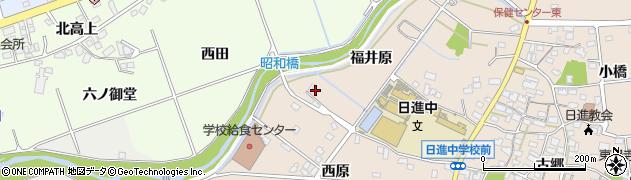 愛知県日進市本郷町(福井原)周辺の地図