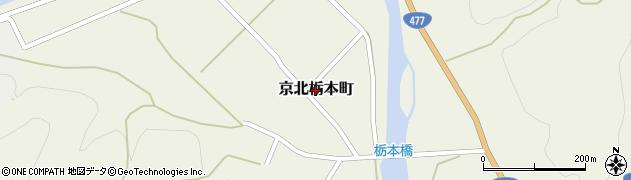 京都府京都市右京区京北栃本町周辺の地図