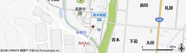 愛知県豊田市亀首町(森腰)周辺の地図