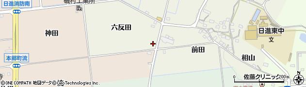 愛知県日進市藤島町(六反田)周辺の地図
