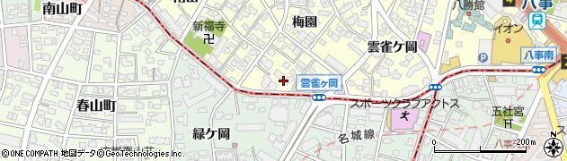 愛知県名古屋市昭和区広路町(梅園)周辺の地図