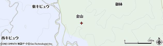 愛知県豊田市足助町(金山)周辺の地図