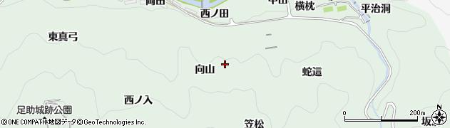 愛知県豊田市足助町(向山)周辺の地図
