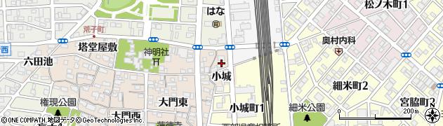 愛知県名古屋市中川区荒子町(小城)周辺の地図