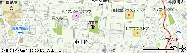 如来寺周辺の地図
