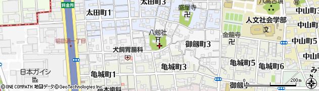 愛知県名古屋市瑞穂区御劔町周辺の地図